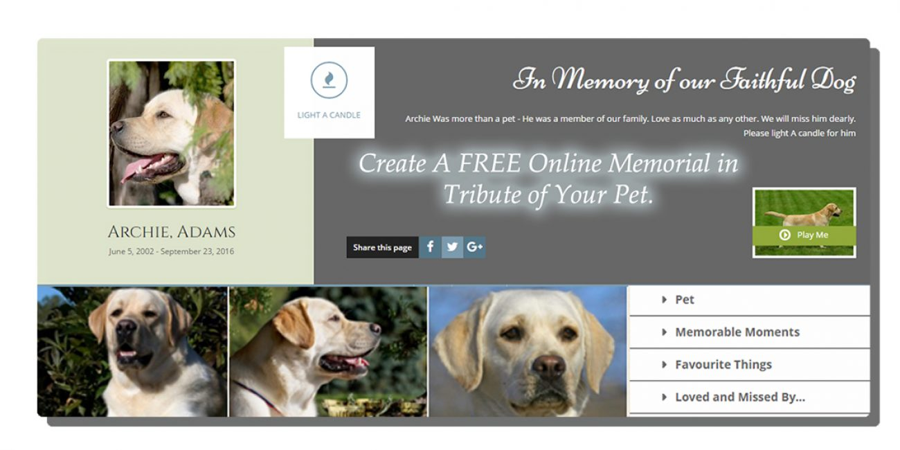 CREATE YOUR ONLINE MEMORIAL FREE